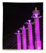 Kansas City Pylons In Pink Fleece Blanket