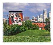 Kansas City Sky Line Fleece Blanket