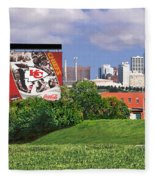Kansas City Sky Line Fleece Blanket