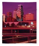 Kansas City Skyline 1991 Fleece Blanket