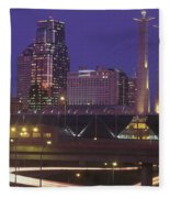 Kansas City Skyline 1998 Fleece Blanket