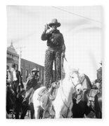 Kansas: Cowboy, C1908 Fleece Blanket
