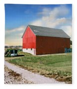 Kansas Landscape II Fleece Blanket