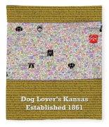 Kansas Loves Dogs Fleece Blanket