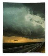Kansas Storm Chase Bust Day 004 Fleece Blanket