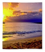 Kapalua Bay Sunset Fleece Blanket