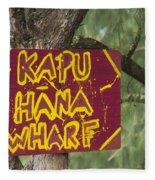 Kapu Hana Wharf Fleece Blanket