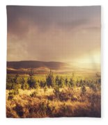 Karanja Dreamy Outback Landscape Fleece Blanket
