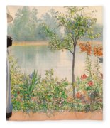 Karin By The Shore Fleece Blanket