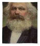 Karl Marx  Fleece Blanket