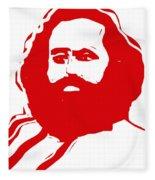 Karl Marx Fleece Blanket