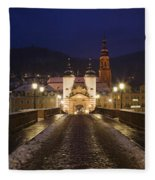 Karl Theodor Bridge With The Castle Fleece Blanket