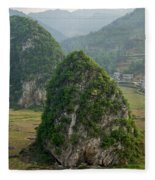 Karst Landscape, Guangxi China Fleece Blanket