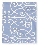Kasbah Blue Arabesque Fleece Blanket