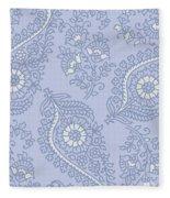 Kasbah Blue Paisley II Fleece Blanket