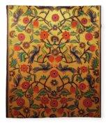 Kashmir's Kashida Fleece Blanket