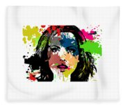 Kate Beckinsale Pop Art Fleece Blanket