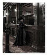 Kate Morgan Checking In At The Hotel Del Coronado Fleece Blanket