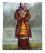 Kateri Tekakwitha Fleece Blanket