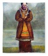 Kateri Tekakwitha Fleece Blanket