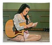 Katy Perry Painting Fleece Blanket