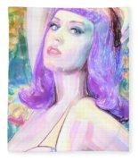 Katy Perry Watercolor, Fleece Blanket