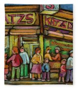 Katzs Delicatessan New York Fleece Blanket