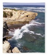 Kauai Coast With Shark Outcrop Fleece Blanket