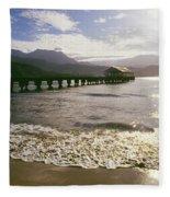 Kauai, Hanalei Bay Fleece Blanket