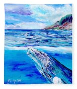 Kauai Humpback Whale Fleece Blanket