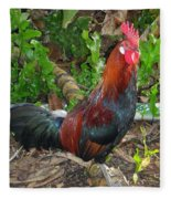 Kauai Rooster Fleece Blanket