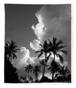 Kauai Storm Clouds Fleece Blanket