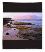 Kauai Tide Pools At Dawn Fleece Blanket