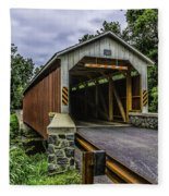 Kaufman Covered Bridge - Pa Fleece Blanket