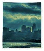 Kaw Point Kansas City Skyline Fleece Blanket