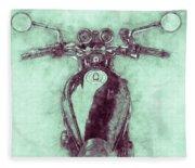 Kawasaki Z1 - Kawasaki Motorcycles 3 - 1972 - Motorcycle Poster - Automotive Art Fleece Blanket