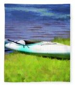 Kayak In Upstate Ny Fleece Blanket