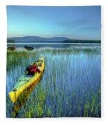 Kayak Sunrise Fleece Blanket