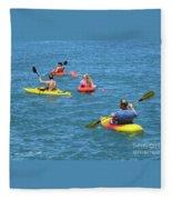 Kayaking Friends Fleece Blanket
