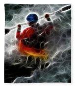 Kayaking In The Zone 3 Fleece Blanket