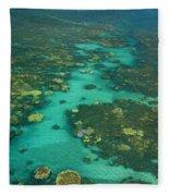 Kayaking Through Beautiful Coral Fleece Blanket