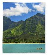 Kayaks In Hanalei Bay Fleece Blanket