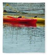 Kayaks Fleece Blanket