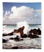 Keanae Peninsula Fleece Blanket