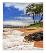 Keawakapu Beach - Mokapu Beach Fleece Blanket
