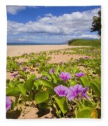 Keawakapu Beach Fleece Blanket