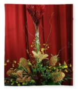 Keawalai Still Life Tropical Flowers Fleece Blanket