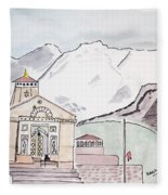 Kedarnath Jyotirling Fleece Blanket