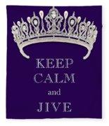 Keep Calm And Jive Diamond Tiara Deep Purple  Fleece Blanket