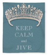 Keep Calm And Jive Diamond Tiara Turquoise Texture Fleece Blanket